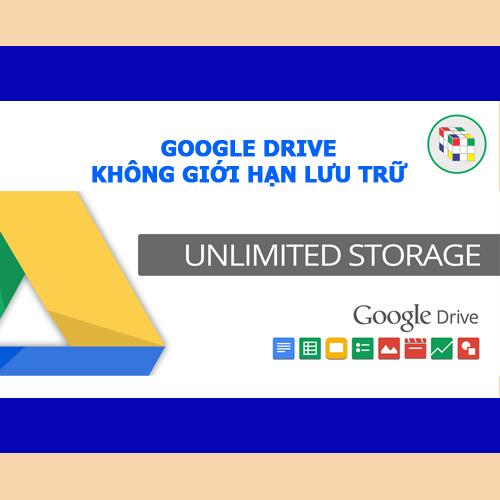 Tài nguyên Google drive không giới hạn lưu trữ