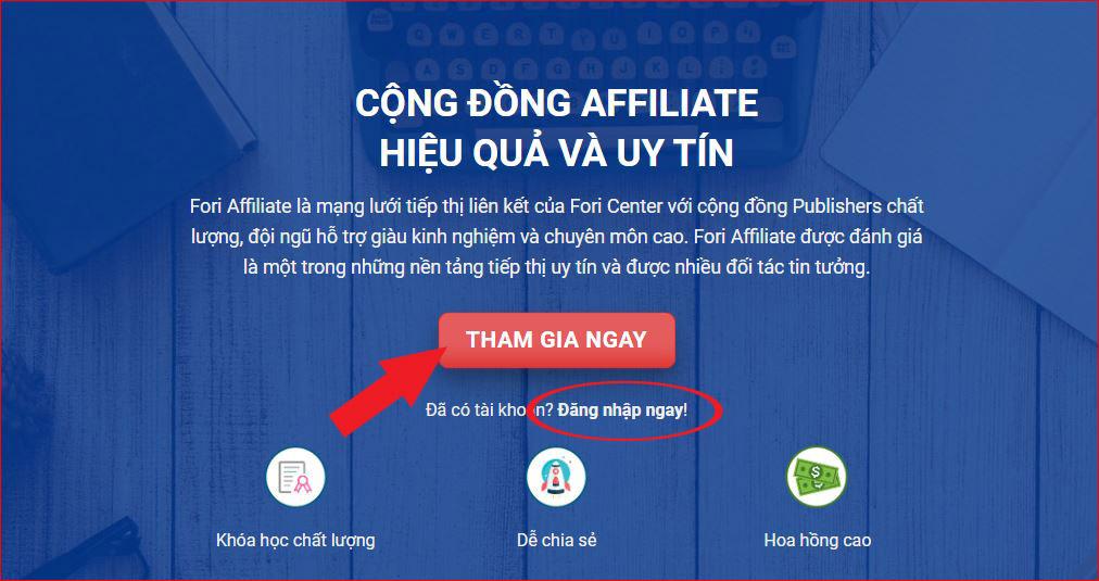Đăng Ký Affiliate Kiếm Tiền Online Với ForiCenter - Affiliate ForiCenter