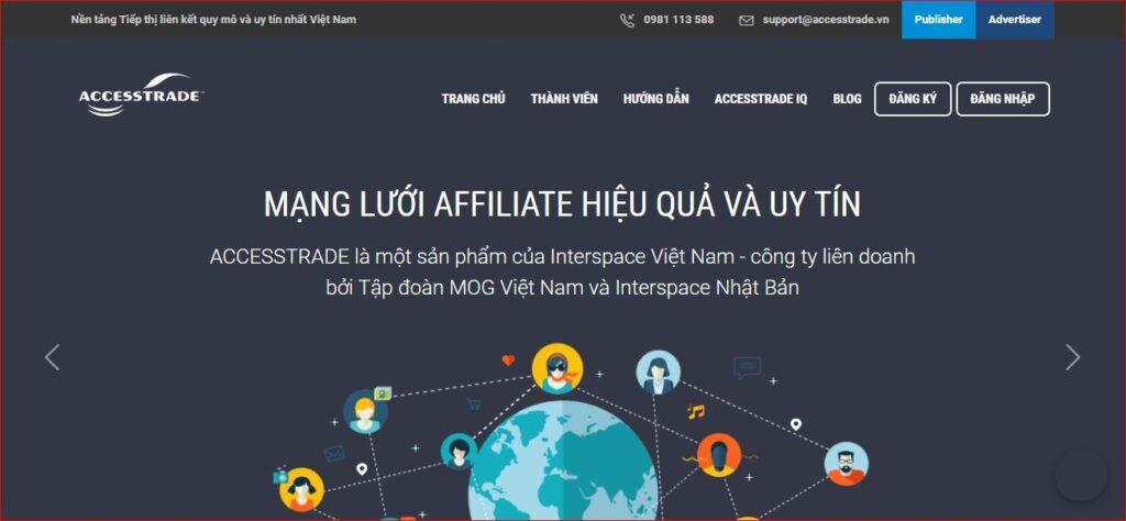 Hướng dẫn đăng ký tài khoản Accesstrade
