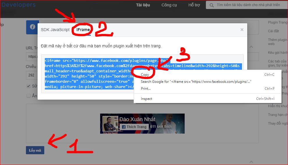 Nhúng nút like Fanpage vào website WordPress