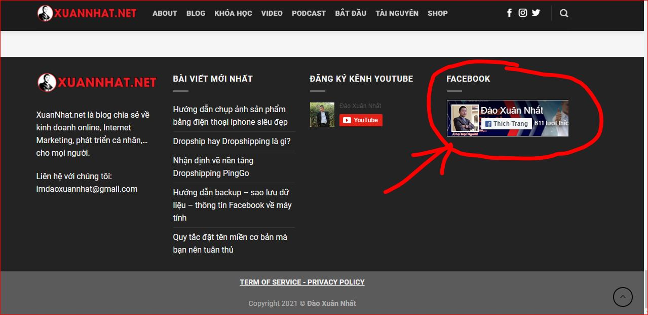 Hướng dẫn nhúng nút like Fanpage vào website WordPress