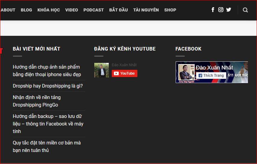 Hướng dẫn chèn nút đăng ký kênh youtube vào website